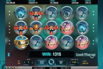 Cosmic Fortune Online Slot Big Win