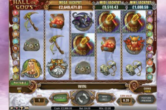 Hall of Gods Slot Bonus Game Symbols
