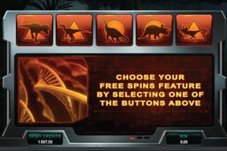 Jurassic Park Slot Free Spins Feature