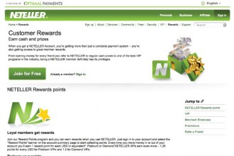 Neteller Online Customer Rewards & Prizes
