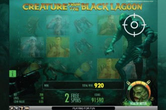 Creature from the Black Lagoon Slot Shot