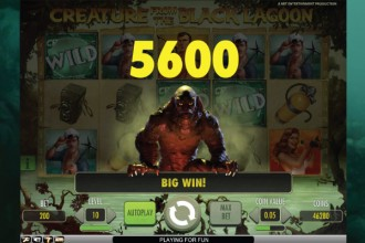 Creature from the Black Lagoon Slot Big Win
