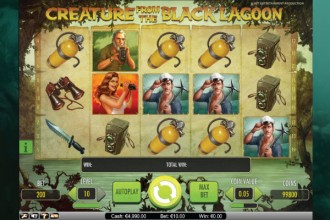 Creature from the Black Lagoon Slot Screenshot