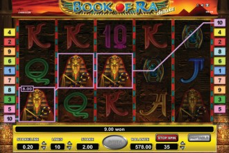 Book of Ra Deluxe Slot Screenshot