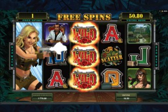 Girls with Guns Free Spins and Wilds