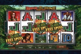 Girls with Guns Free Spins Scatters