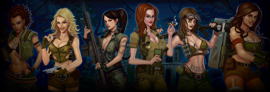 Girls with Guns Jungle Heat Background Image