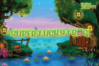 Super Lucky Frog Slot Logo
