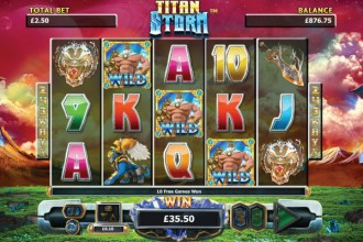Titan Storm Slot Wilds and Free Spins