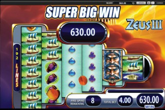 Zeus 3 Free Spins Super Big Win