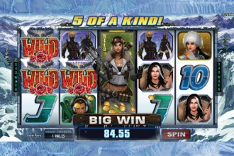 Girls with Guns 2 Slot 5 of a Kind Win
