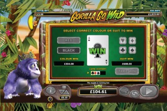 Gorilla Go Wild Gamble Feature