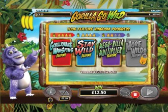 Gorilla Go Wild Slot Feature Kingdom