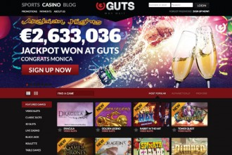 Guts Casino Home Page