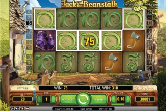 Jack and the Beanstalk Slot Five of Kind Win