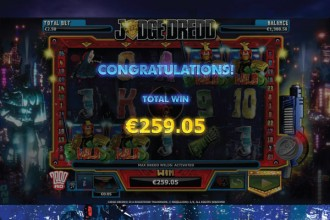 Judge Dredd Slot Free Spins Win