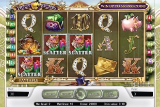 Piggy Riches Slot Scatters