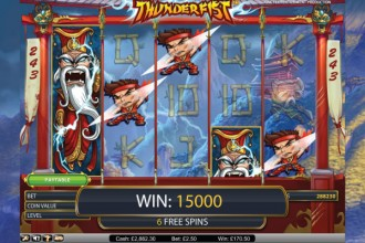 Thunderfist Slot Free Spins Win