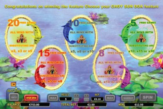 Choy Sun Doa Slot Free Spins & Multipliers