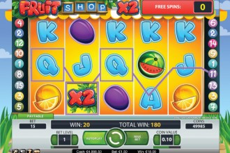 Fruit Shop Online Slot Free Spins Win