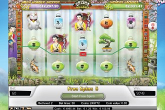 Geisha Wonders Slot Free Spins Win