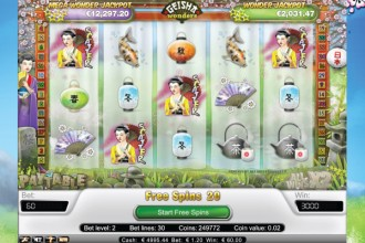 Geisha Wonders Slot Free Spins Scatters