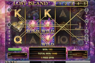 Lost Island Slot Free Spins