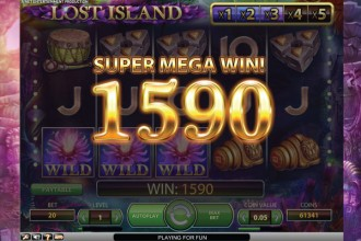Lost Island Slot Super Mega Win