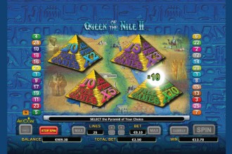 Queen of The Nile 2 Free Spins Choice