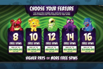 So Many Monsters Slot Free Spins