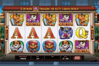Kitty Cabana Slot Reels
