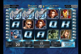 The Avengers Online Slot Scatters
