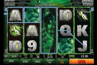 The Incredible Hulk Slot Expanding Wilds
