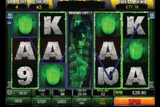 The Incredible Hulk Slot Free Spins