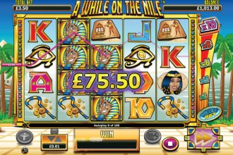 A While On The Nile Slot Win