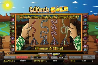 California Gold Slot Mad Miner Bonus Game