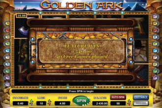 Golden Ark Slot Free Spins Win