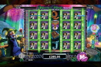 Merlins Magic Respins Slot Stacked Wilds