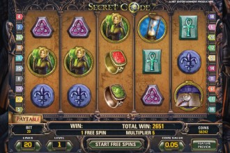 Secret Code Slot Free Spins Reels