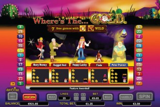 Where's The Gold Slot Free Spins