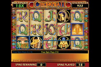 Cleopatra II Slot Free Spins Multipliers