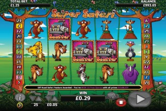 Super Safari Slot Scatters