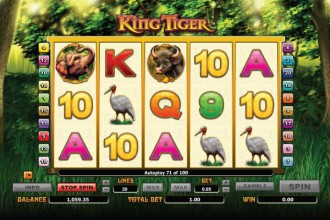 King Tiger Slot Reels