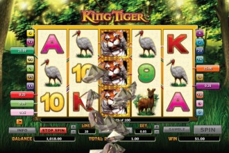 King Tiger Slot Staked Wilds Win