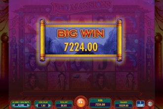 Red Mansions Slot Big Win