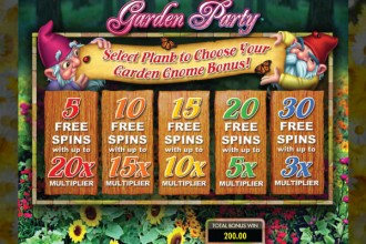 Garden Party Slot Free Spins