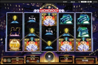Monopoly Once Around Deluxe Slot Reels
