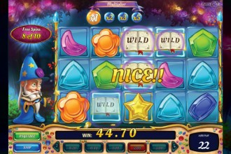 Wizard of Gems Slot Bonus Win