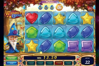 Wizard of Gems Slot Cascading Win