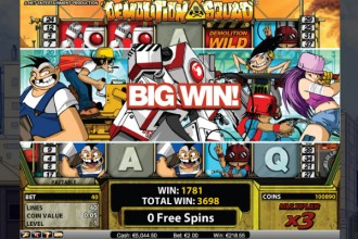 Demolition Squad Slot Free Spins Big Win
